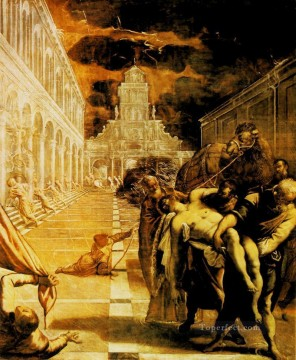 nude naked body Painting - The Stealing of the Dead Body of St Mark Italian Tintoretto nude